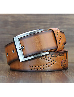 Both men and women retro end of Europe and the United States belt leisure antique carved leather belt Contrast color pin buckle belts Punching locomot