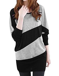 Tee-shirt Femme,Couleur Pleine Décontracté / Quotidien simple Manches Longues Col Arrondi Polyester