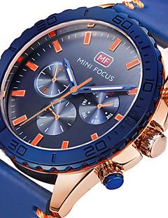 Herrn Sportuhr Militäruhr Modeuhr Armbanduhr Einzigartige kreative Uhr Armbanduhren für den Alltag Quartz Echtes Leder Band Bettelarmband
