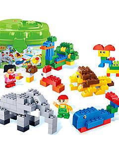Puzzle Sada na domácí tvoření 3D puzzle Stavební bloky DIY hračky Slon Ptáček Koře Kachna Plast