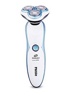 Elektriske barbermaskiner Herrer 110V-220V Vannavvisende Håndholdt design Vaskbar Avtagbar Ladestatus 3 i 1