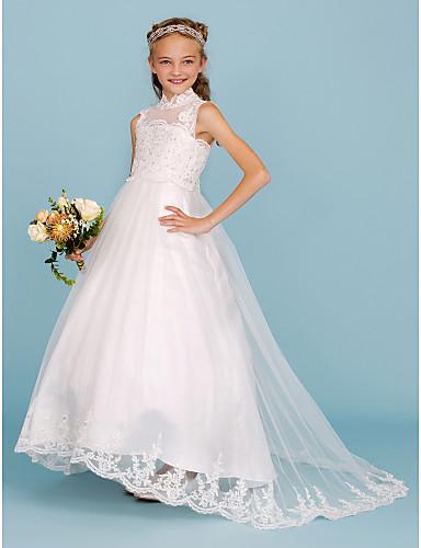 b57700b75f58 Βραδινή τουαλέτα Ζιβάγκο Ουρά Δαντέλα   Σατέν Φόρεμα Νεαρών Παρανύμφων με  Χάντρες   Διακοσμητικά Επιράμματα με LAN TING BRIDE®   Γαμήλιο Πάρτι
