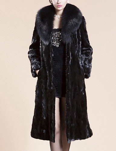 5db8b577a17f Χαμηλού Κόστους Women  039 s Fur  amp  Faux Fur Coats-Γυναικεία Αργίες