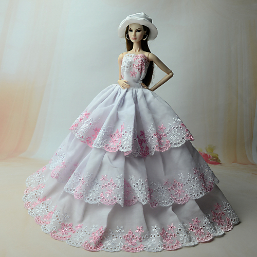 Dresses Dress For Barbiedoll Linen / Cotton / Organza Dress For Girl's Doll Toy