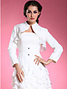 Wedding  Wraps Coats/Jackets Long Sleeve Chiffon / Satin White Wedding High Neck T-shirt Open Front
