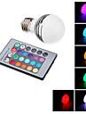E27 3W 1-LED 60-70LM RVB lumière télécommandé Ampoule spot LED (65-265V)
