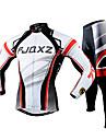 FJQXZ Maillot et Cuissard Long de Cyclisme Homme Manches Longues Velo Ensemble de Vetements Sechage rapide Resistant aux ultraviolets Zip