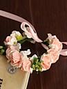 Flori de Nuntă Rotund Trandafiri Corsaj de mână Nuntă Petrecere / Seară Satin Hârtie