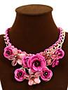 Pentru femei Coliere Flower Shape Rose Piatră Preţioasă Aliaj Festival/Sărbătoare European Bijuterii Statement plaited costum de bijuterii