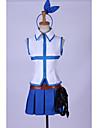 Inspire par Fairy Tail Lucy Heartfilia Manga Costumes de Cosplay Costumes Cosplay Mosaique Sans ManchesHaut Jupe Casque Accessoires de