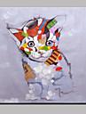 Peint a la main Abstrait Animal Moderne Un Panneau Toile Peinture a l\'huile Hang-peint For Decoration d\'interieur