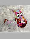 Peint a la main Animal Format Horizontal,Moderne Un Panneau Toile Peinture a l\'huile Hang-peint For Decoration d\'interieur