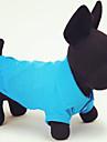 Chat Chien Tee-shirt Rouge Orange Jaune Vert Bleu Incanardin Vetements pour Chien Ete Printemps/Automne Couleur PleineDecontracte /