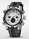 WEIDE Bărbați Ceas de Mână Quartz Quartz Japonez LCD Calendar Cronograf Rezistent la Apă Zone Duale de Timp alarmă Cauciuc Bandă Luxos