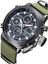 Bărbați Ceas de Mână Quartz Quartz Japonez Calendar Rezistent la Apă Material Bandă Luxos Verde Alb Negru