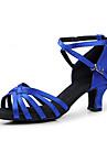 Femei Satin Pantofi de dans pentru sandale de latină / Ballroom (mai multe culori)