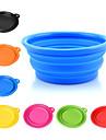 Chien Bols & Bouteilles d\'eau Animaux de Compagnie Bols & alimentation Portable Pliable Jaune Rouge Vert Bleu Rose