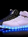 Unisex Adidași Confortabili Pantofi Usori Piele Primăvară Vară Toamnă Iarnă De Atletism Casual LED Toc Jos Alb Negru Rosu Sub 2.5 cm