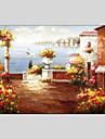 Peint a la main Paysage / Paysages Abstraits Peinture a l\'huile + Prints,Classique / Mediterraneen Un Panneau ToilePeinture a l\'huile