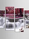 Paysage A fleurs/Botanique Moderne Realisme,Quatre Panneaux Toile Toute Forme Imprimer Art Decoration murale For Decoration d\'interieur