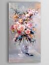 Peint a la main A fleurs/Botanique Verticale,Moderne Un Panneau Toile Peinture a l\'huile Hang-peint For Decoration d\'interieur