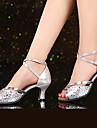 Latin-Pantofi de dans(Argintiu Auriu Muștar) -NePersonalizabili-Damă