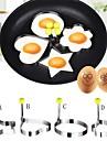 4 Pieces Mold DIY For Pour Egg Liquide Acier Inoxydable Creative Kitchen Gadget Ecologique Haute qualite