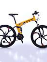 Velo tout terrain Velo pliant Cyclisme 27 Vitesse 26 pouces/700CC 50mm Femme Unisexe Adulte Shimano Frein a Double DisqueFourche de