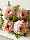 1Piece / Set 1 Une succursale Plastique Pivoines Fleur de Table Fleurs artificielles