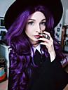 Femme Perruque Synthetique Lace Front Long Ondulation Naturelle Violet Perruque Naturelle Perruque Deguisement