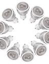 3W Spoturi LED MR16 3 LED Putere Mare 260-300 lm Alb Cald Alb Intensitate Luminoasă Reglabilă AC 220-240 V 10 bc