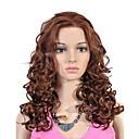 Χαμηλού Κόστους Χωνευτή Τοποθέτηση-Συνθετικές μπροστινές περούκες δαντέλας Σγουρά Συνθετικά μαλλιά 16 inch Περούκα Γυναικεία Δαντέλα Μπροστά