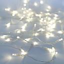 זול חוט נורות לד-10מ' חוטי תאורה 100 נוריות Dip Led לבן Party / דקורטיבי / ניתן להרכבה 100-240 V 1pc