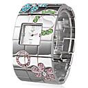 ieftine Ceas inel-Pentru femei Quartz Ceas de Mână Japoneză Ceas Casual Oțel inoxidabil Bandă Lux / Floare / Boem / Elegant / Modă / Atârnat Argint