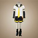 povoljno Anime kostimi-Inspirirana Vocaloid Kagamine Len Video igra Cosplay nošnje Cosplay Suits Kolaž Kratkih rukava Top / Rukavi / Pojas Halloween kostime / Saten