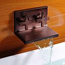 baratos Torneiras de Banheiro-óleo antigo esfregou bronze cachoeira torneira pia do banheiro