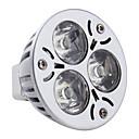 billige LED-lyspærer-3W 260-300lm GU5.3(MR16) LED-spotpærer MR16 3 LED perler Høyeffekts-LED Naturlig hvit 12V
