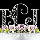 olcso Torta díszek-Tortadísz Kerti témák Monogramm Klasszikus pár Esküvő Évforduló Születésnap Lánybúcsú Tizenöt & Édes tizenhat val vel Strasszkő OPP