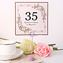 cheap Table Centerpieces-Pearl Paper Table Number Cards Poly Bag 10