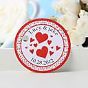 hesapli Çıkartmalar, Etiketler ve Tagler-kişiselleştirilmiş lehçe etiketi - kırmızı kalp (36 kümesi) düğün iyilikleri