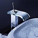 Χαμηλού Κόστους Βρύσες Νιπτήρα Μπάνιου-Βρύσες νιπτήρα μπάνιου - Στον πάγκο - DI Ορείχαλκος - Καταρράκτης (Χρώμιο)