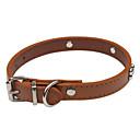 hesapli Köpek Oyuncakları-Köpek Yakalar Ayarlanabilir / İçeri Çekilebilir Sevimli ve Topluca PU Deri Kahverengi Kırmzı