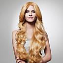 halpa Synteettiset peruukit ilmanmyssyä-Synteettiset peruukit Laineita Tyyli Suojuksettomat Peruukki Vaaleahiuksisuus Vaaleahiuksisuus Synteettiset hiukset 26 inch Naisten Vaaleahiuksisuus Peruukki Pitkä Luonnollinen peruukki