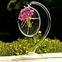 cheap Artificial Flower-Table Centerpieces Hanging Clear Glass Vase  Table Deocrations
