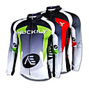 cheap Cycling Jackets-Nuckily Men's Long Sleeve Cycling Jersey - Red / Green Bike Jersey, Thermal / Warm, Quick Dry, Fleece Lining Fleece