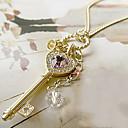preiswerte Modische Halsketten-Damen Kristall Anhängerketten - Krystall Herz Liebe, Elegant Gold, Silber Kronenform Modische Halsketten Schmuck Für Party, Danke, Alltag