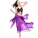 hesapli Göbek Dansı Giysileri-Göbek Dansı Kıyafetler Kadın's Performans Şifon Madeni Para Düşük