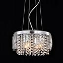 رخيصةأون إكسسوارات LED-QINGMING® Drum أضواء معلقة ضوء سفل طلاء ملون زجاج كريستال, استايل مصغر 110-120V / 220-240V لا يشمل لمبات / 10-15㎡ / E12 / E14