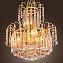 billige Lysekroner-QINGMING® Krystall Anheng Lys Opplys Gylden Krystall, Mini Stil 110-120V / 220-240V Pære ikke Inkludert / E12 / E14