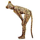 ieftine Zentai-Costume Zentai cu model Animal / Monștrii Zentai Costume Cosplay Maro Mată Coadă / Costum Pisică Spandex Lycra Bărbați / Pentru femei Halloween / An Nou